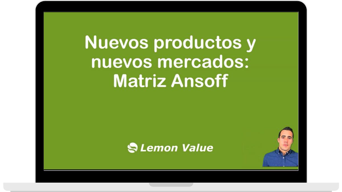 Lemon Value_Clase nuevos productos y nuevos mercados curso