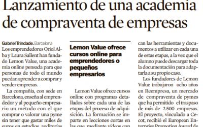 Diario Expansión: Lanzamiento de una academia de compraventa de empresas